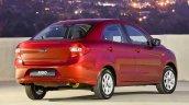 2015 Ford Figo sedan rear three quarter launched in South Africa