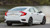 2016 Honda CIvic white rear quarter