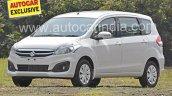 2016 Maruti Ertiga (facelift) front quarter revealed