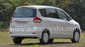 2016 Maruti Ertiga (facelift) rear quarter revealed