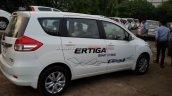 2016 Maruti Ertiga side spied at a dealer stockyard