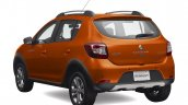 2016 Renault Sandero Stepway (facelift) rear three quarter launched at MXN 196,600