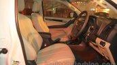 Chevrolet Trailblazer front seat India launch
