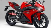 Honda CBR250RR front quarter rendering based on light weight super sports concept