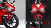 Honda CBR250RR front rendering based on light weight super sports concept