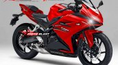 Honda CBR250RR red rendering based on light weight super sports concept
