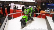 Kawasaki Z125 Pro front three quarters left