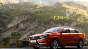 Lada Vesta front quarter low press images