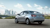 Lada Vesta rear three quarter press images