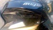 Mahindra Mojo black fuel tank spotted