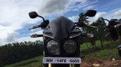Mahindra Mojo headlight in Images