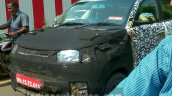 Mahindra S101 (XUV100) camouflaged front spied in Nashik