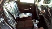 Maruti Baleno rear seats NEXA showroom spied