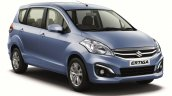 Maruti Ertiga facelift front quarter press shots