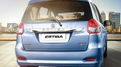 Maruti Ertiga facelift rear press shots