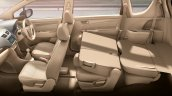 Maruti Ertiga facelift seats press shots