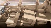 Maruti Ertiga facelift seats press shots