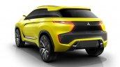 Mitsubishi eX SUV concept rear three quarter to debut at 2015 Tokyo Motor Show