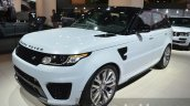 Range Rover Sport SVR front three quarters at IAA 2015