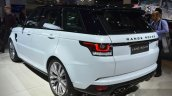 Range Rover Sport SVR rear three quarters at IAA 2015