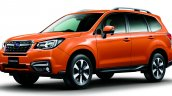 Subaru Forester Facelift front three quarter official