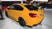 Subaru WRX STi S207 Limited Edition rear three quarter at the 2015 Tokyo Motor Show