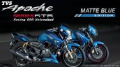 TVS Apache Matte Blue Edition 160 180 ABS