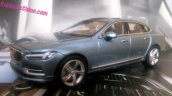 Volvo S90 front three quarter fully revealed via 1-43 scale model