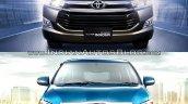 2014 Toyota Innova vs 2016 Toyota Innova front Old vs New