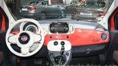 2016 Fiat 500 (facelift) dashboard at the 2015 Dubai Motor Show