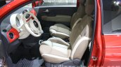 2016 Fiat 500 (facelift) front cabin at the 2015 Dubai Motor Show