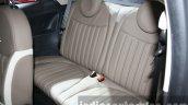 2016 Fiat 500 (facelift) rear seats at the 2015 Dubai Motor Show