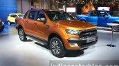 2016 Ford Ranger Wildtrak front three quarter at the 2015 Dubai Motor Show