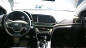 2016 Hyundai Elantra dashboard at 2015 Dubai Motor Show