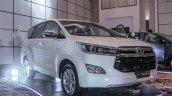 2016 Toyota Innova white front quarter right world premiere photos