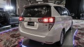 2016 Toyota Innova white rear quarter right world premiere photos