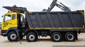 Eicher Pro 8031XM 330 hp tipper side at EXCON 2015