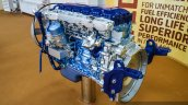 Eicher VEDX8 7.7-litre CRDi engine front quarter at EXCON 2015