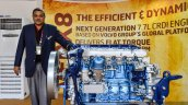 Eicher VEDX8 engine with Ravishankar Vice President VECV at EXCON 2015