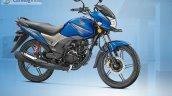 Honda CB Shine SP blue front quarter official image leaked