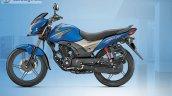 Honda CB Shine SP blue side official image leaked
