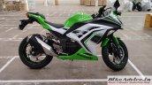 Kawasaki Ninja 300 side inspired by 30th Anniversary Edition