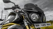 Mahindra Mojo black headlamp cowl review