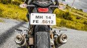 Mahindra Mojo black rear review