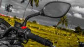 Mahindra Mojo black rear view mirror review
