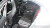 Mercedes A Class facelift rear seats at DIMS 2015