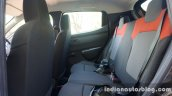 Renault Kwid rear seat review