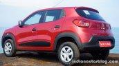 Renault Kwid rear three quarter review