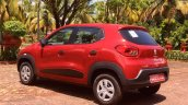 Renault Kwid rear three quarters left review