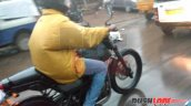 Royal Enfield Himalayan city variant rear seat spied